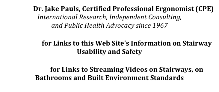 Contact  Dr. Jake Pauls, Certified Professional Ergonomist (CPE)